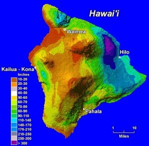 Big Island Rainfall Map