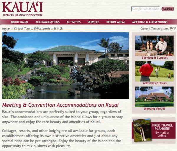 Kauai Discovery Website