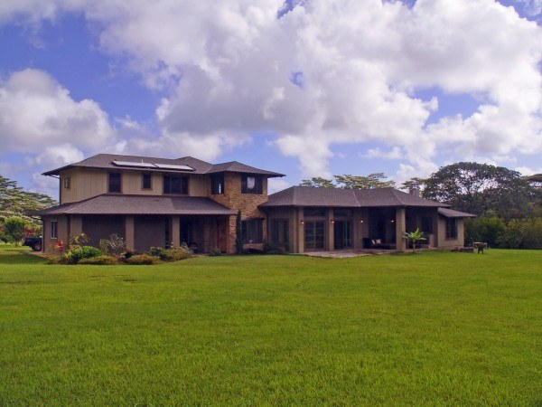 exterior of Namahana home with large lawn