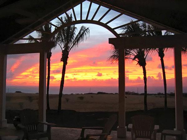 Sunset along the North Kohala coast