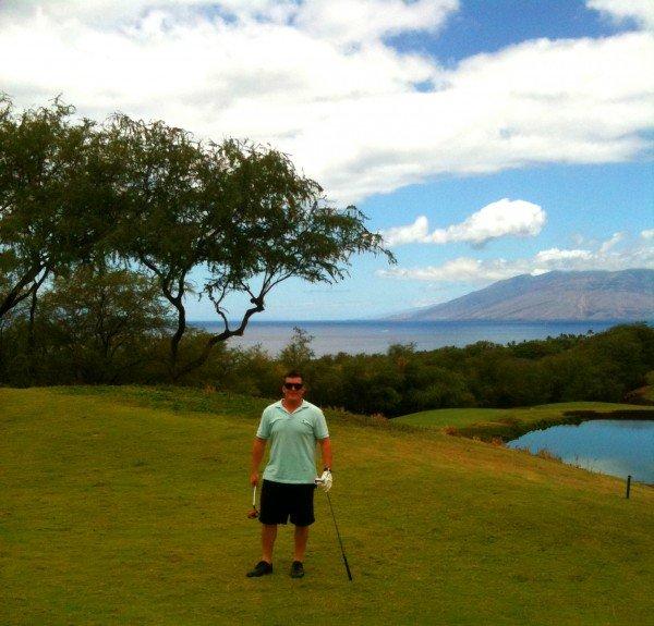 Golfing at Makena
