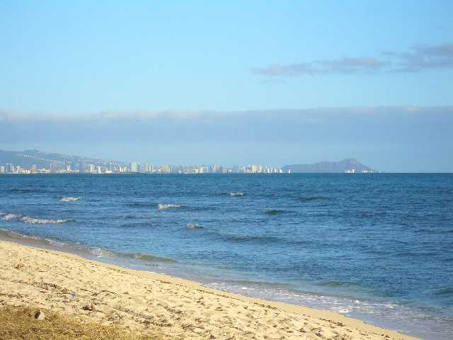 Ewa Beach with Diamond Head View