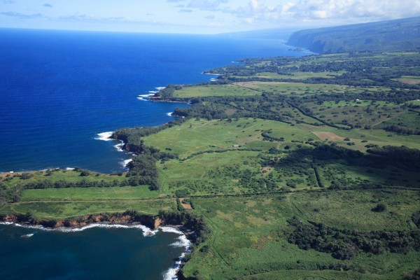 North Kohala coastline aerial