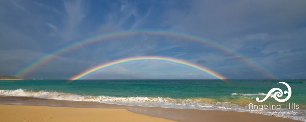Rainbow at Baldwin Beach