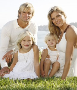 Laird Hamilton with wife Gabrielle Reece and their two daughters
