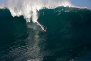 "Laird Hamilton surfing ""Jaws"" on Maui"