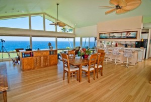 Hamakua estate kitchen with views