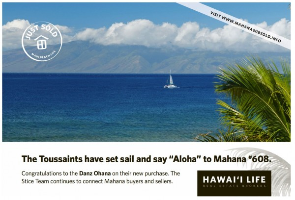 Mahana 608 Just Sold Postcard copy