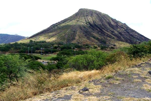 view of Koko Crater tram line near the Visitor look out