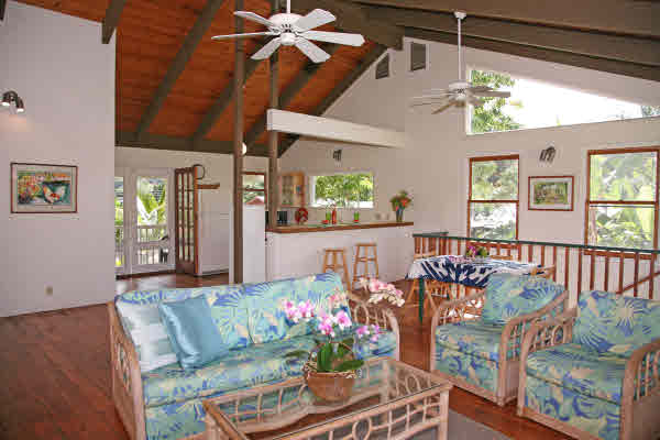 Hanalei Home with Open Ceilings.