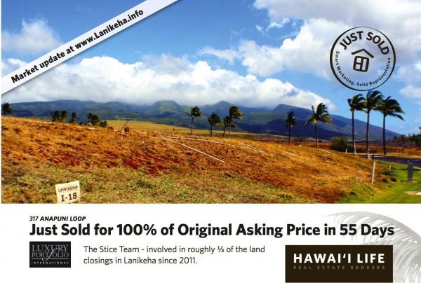 Lanikeha Sold Postcard