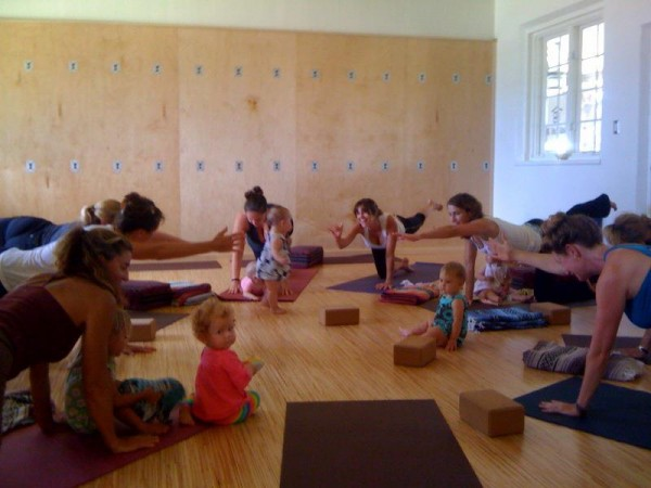 Mommy and Me yoga at Metamorphose