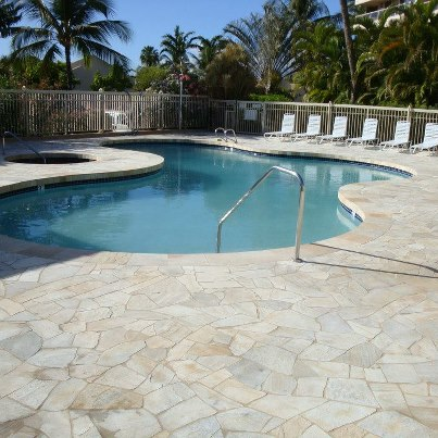 Maui banyan new pool decking