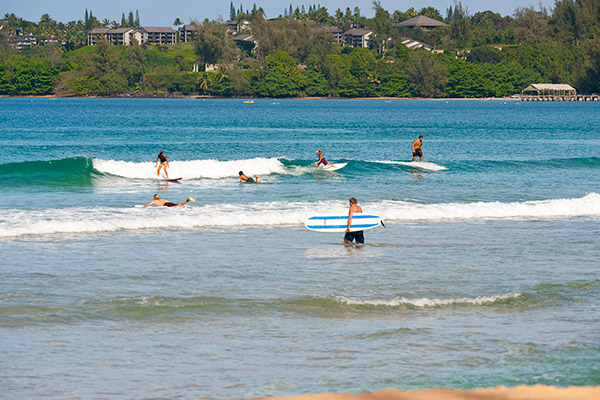 Hanalei Bay Surf shot
