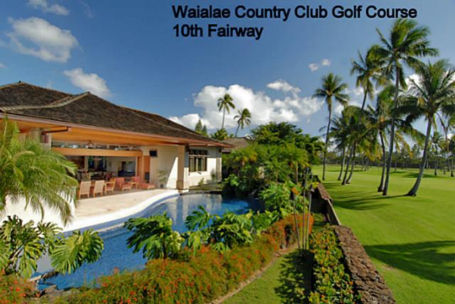 Oahu golf course front luxury home on waialae country club golf course