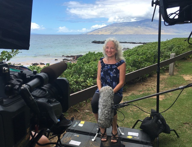 Filming for Hawaii Life TV show