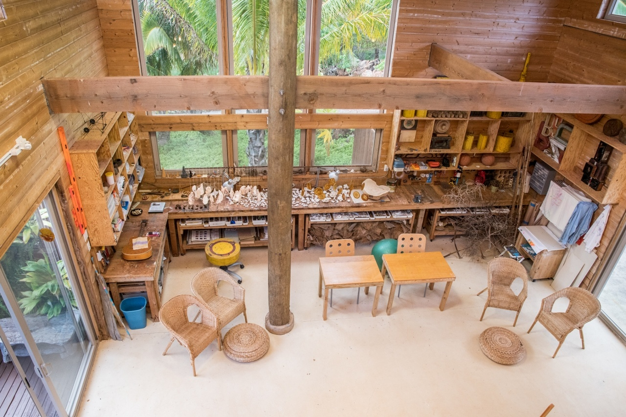 Artists' Studio with vaulted ceilings