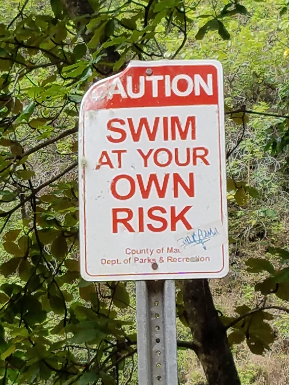 swim at own risk