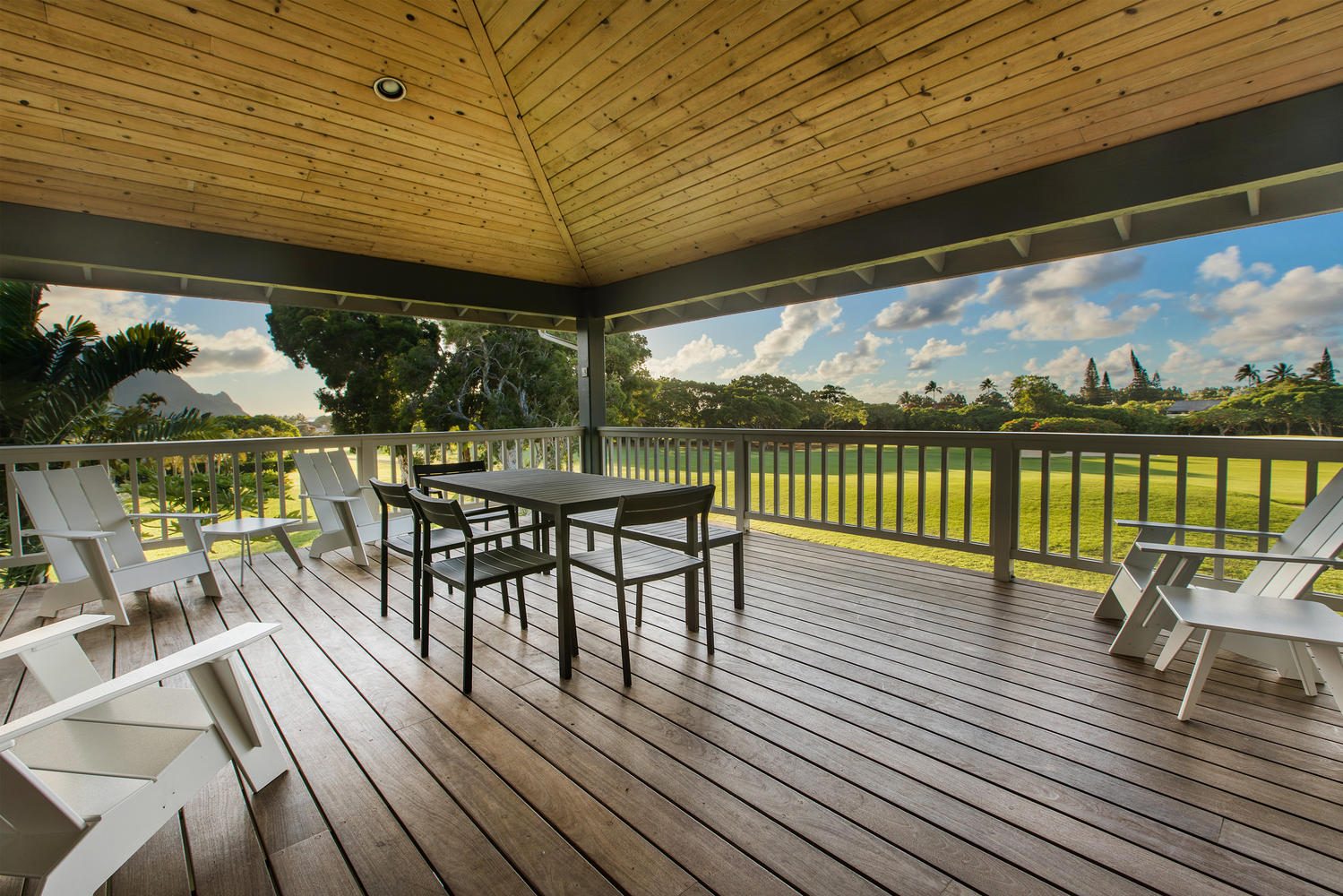 Ipe wood deck with views