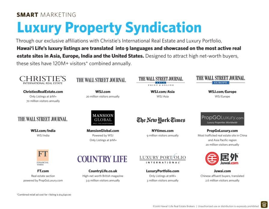 Hawaii Life Luxury Marketing Syndication