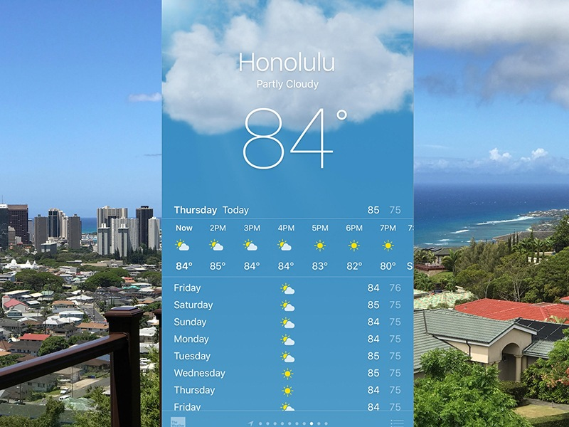 Honolulu Summer Weather