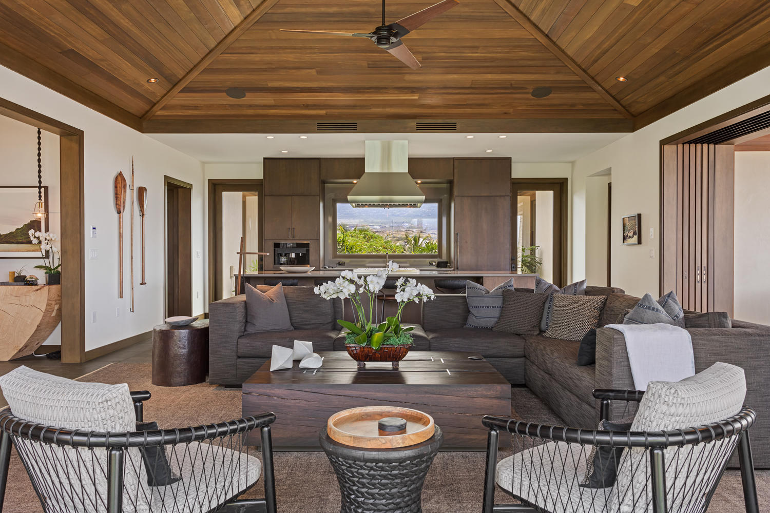 Open Sided Great Room Allows Light And Soft Trades Throughout. Kohanaiki    Hale Alani 39   $6.35 Million   4BR/4.5BA   3.748 Interior With Clean  Simple ...