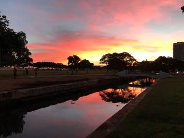 Ala Moana Park Sunset