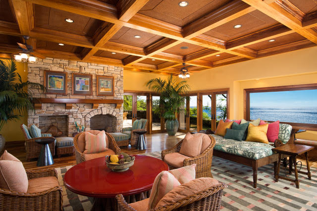 Great Room Puakea Bay Ranch Oceanfront Auction