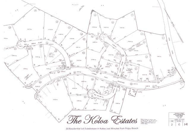 Koloa Estates Plat