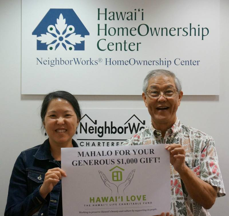 Hawai'i HomeOwnership Center receiving some Hawai'i Love