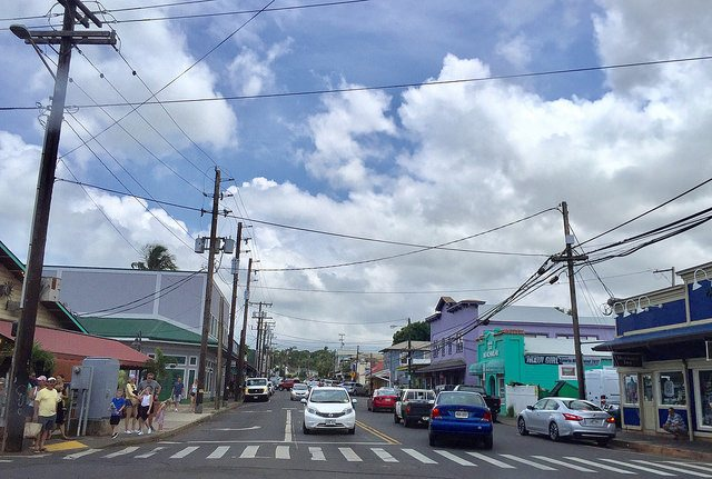Paia Maui, looking up Baldwin Ave.