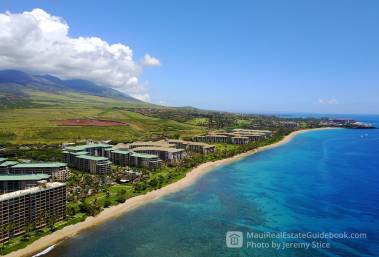 Honua Kai and Mahana Aerial with Black Rock