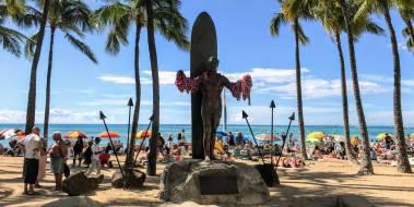 Waikiki Beach Duke Statue
