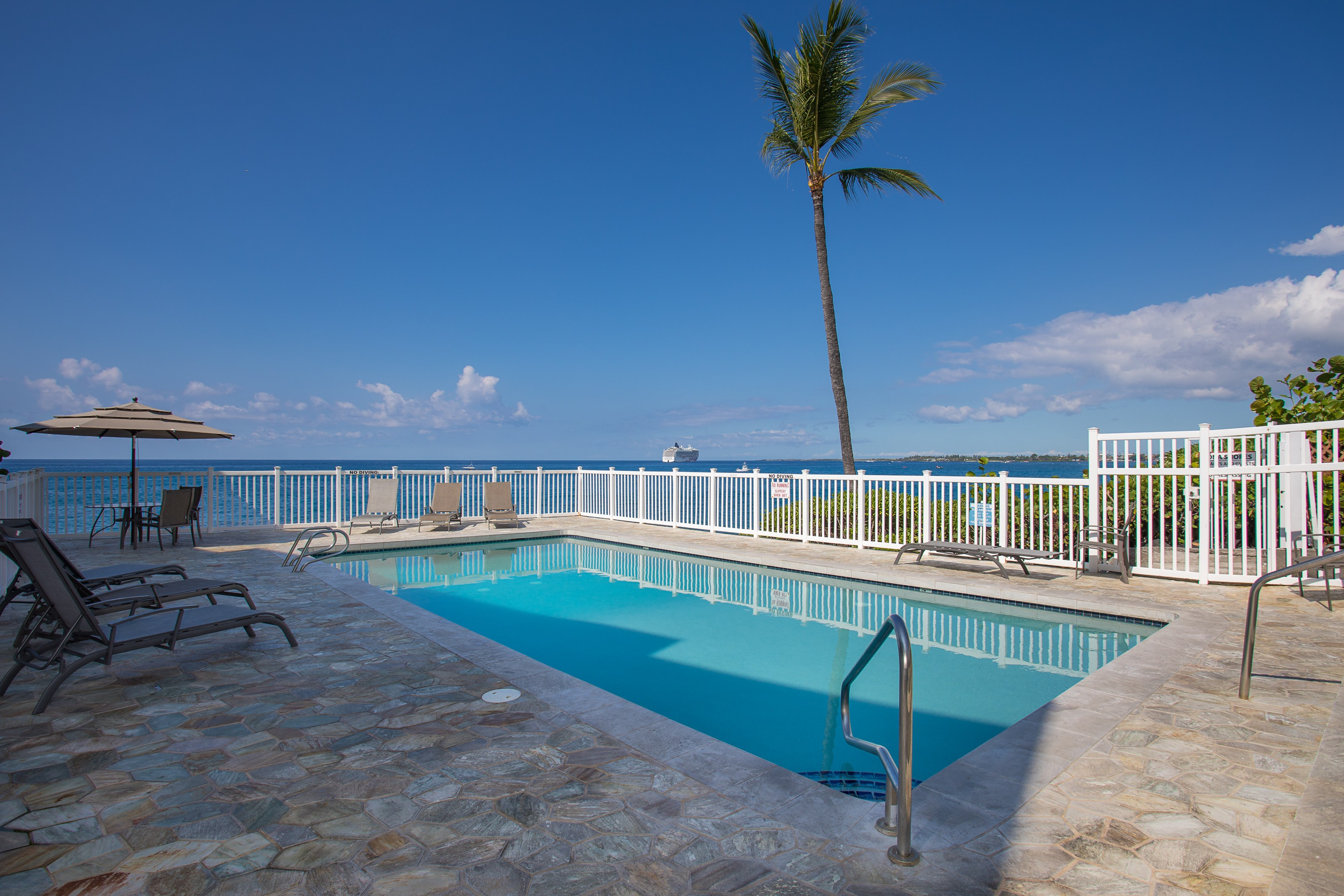 Pool on the oceanfront.
