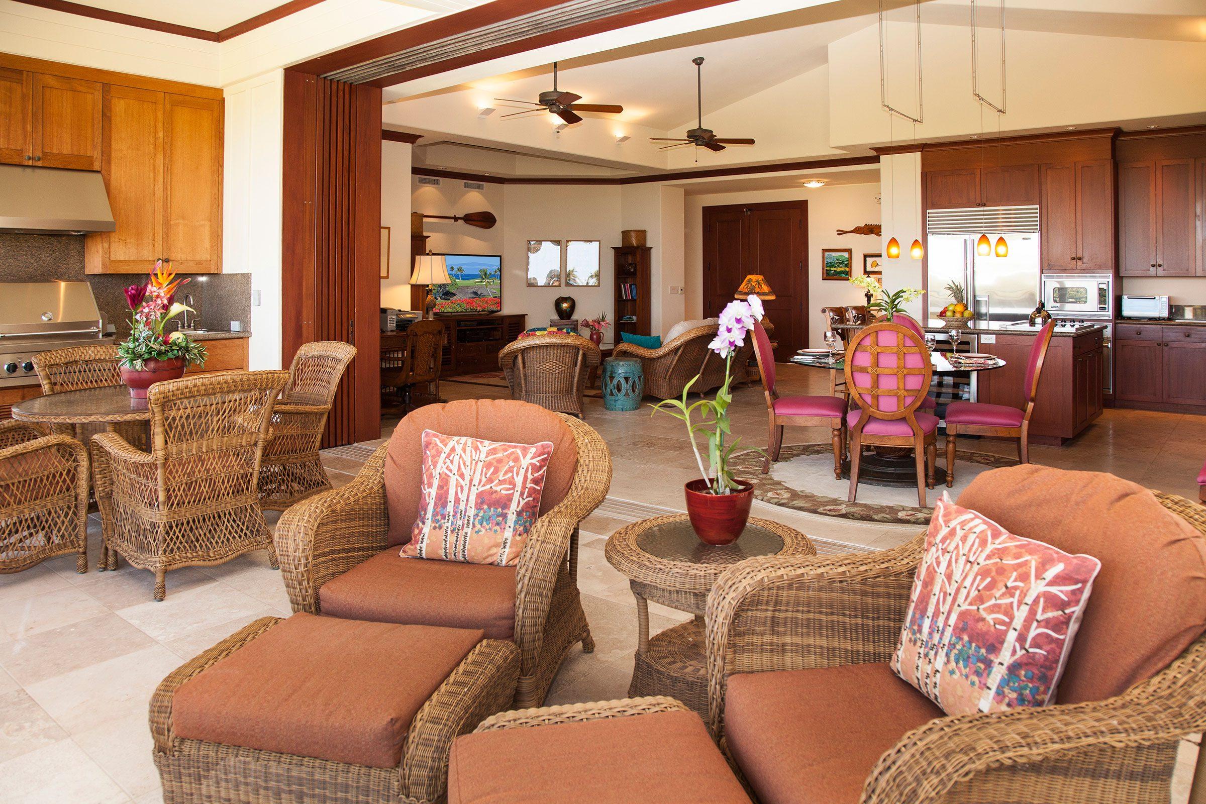 Kolea lanai indoor-outdoor living