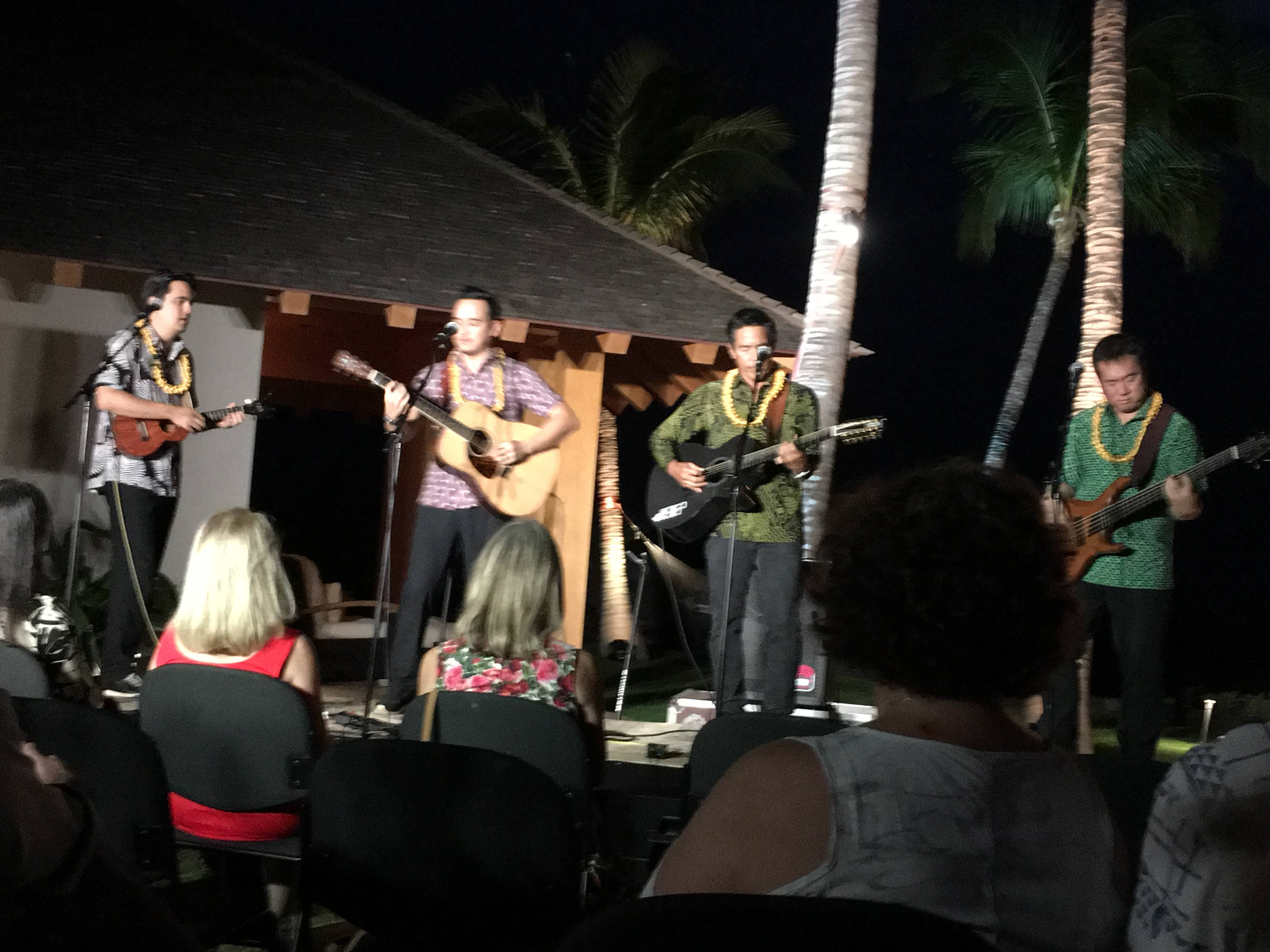 Manoa DNA performing for Kahilu Gold Event