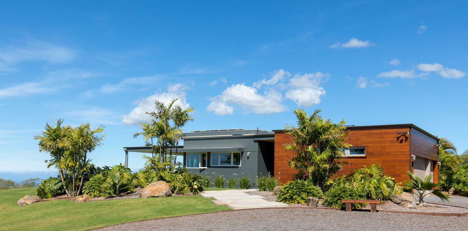 Hawaii Modernism In Kula Filtered Light Wood And