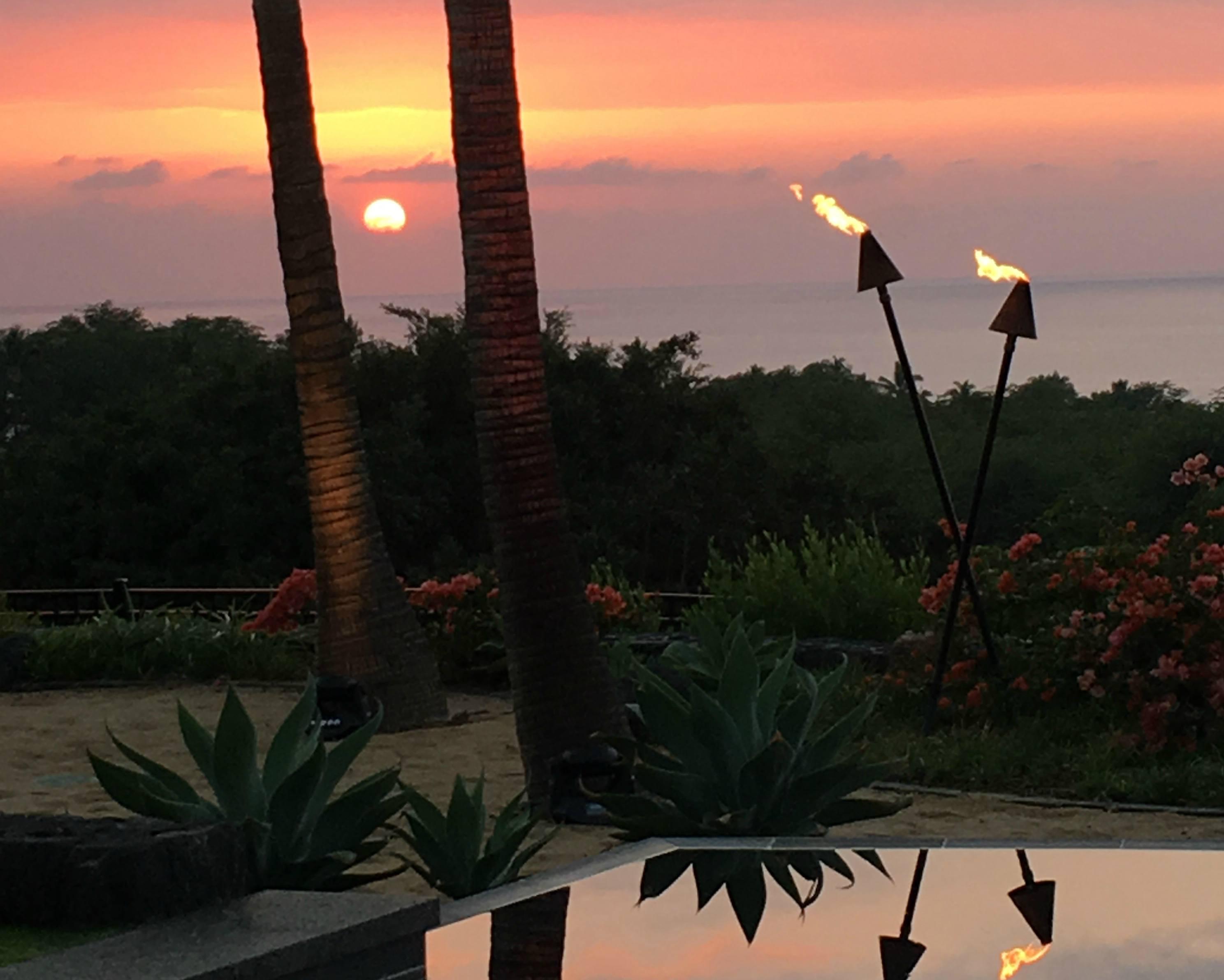 Sunset at Kaunaoa at Mauna Kea