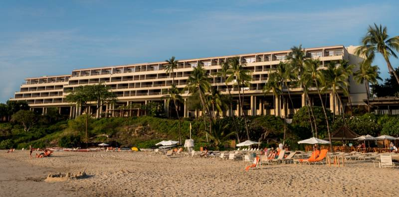 Mauna Kea Beach Hotel, viewed from the beach