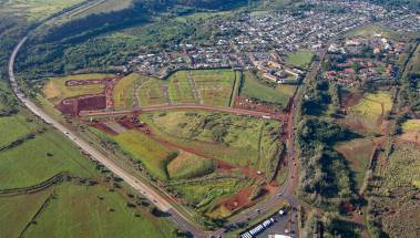 Aerial of Ho'oluana at Hohea Loa