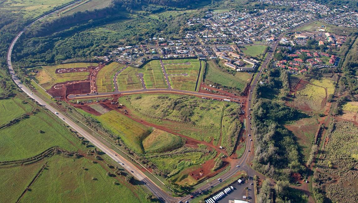 Aerial of Ho'oluana at Hohea Loa