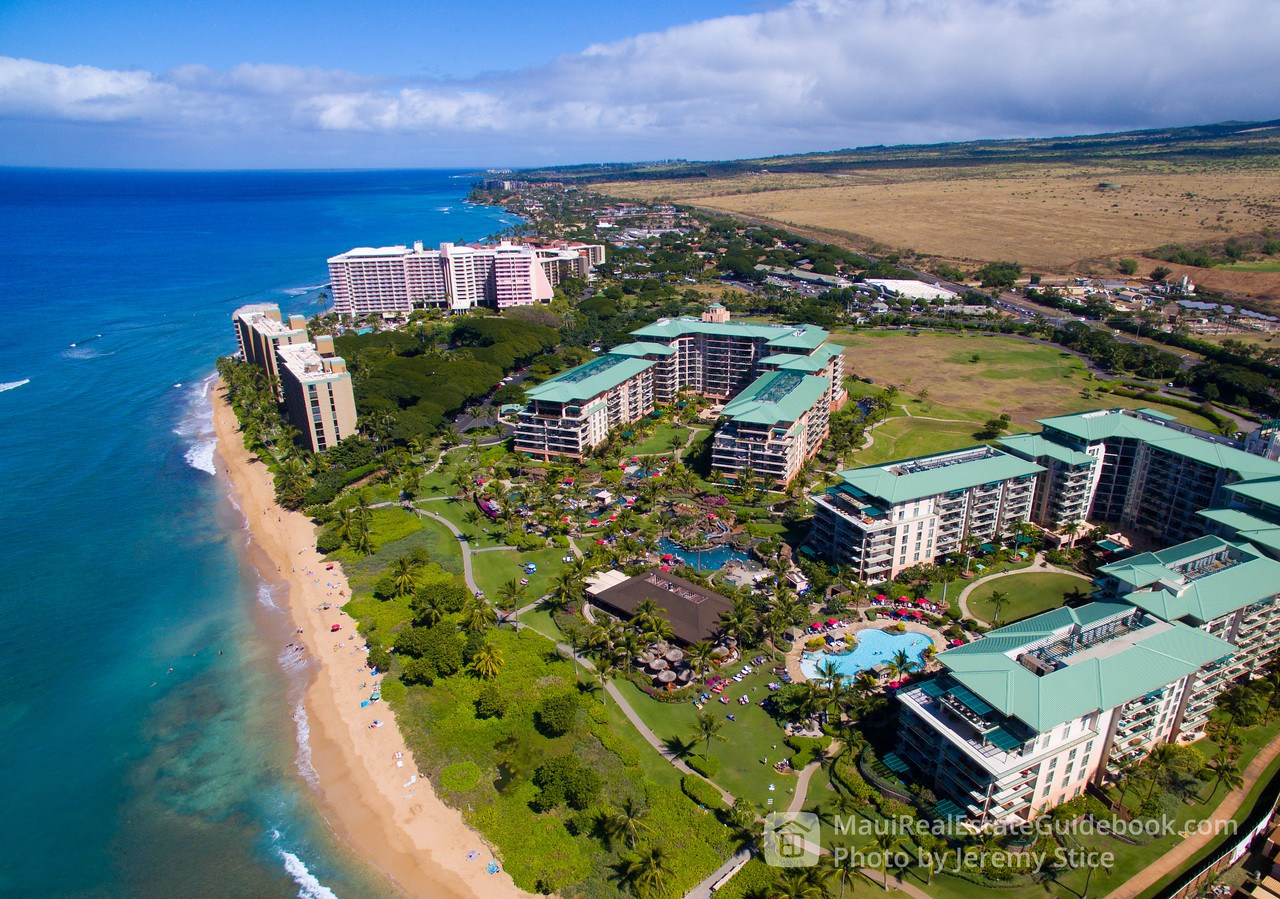 Mahana at Kaanapali Vacation Rental Aerial Perspective
