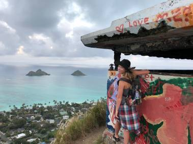 Lanikai pillbox up close