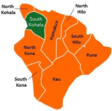 Kohala Hawaii Map.The District Of South Kohala Big Island Of Hawaii Hawaii Real