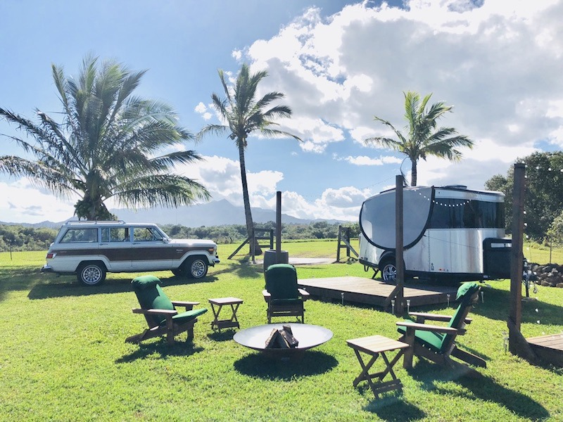 Airstreams on North Shore Preserve