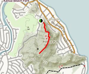 kaiwa Ridge map