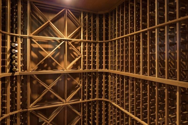 Waikii Ranch home wine cellar