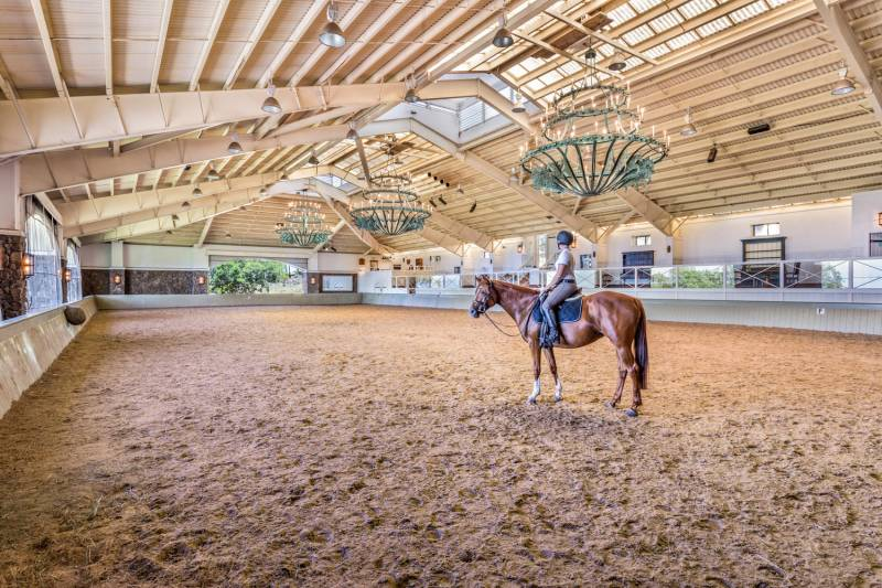 Kohala Ranch Road property with indoor arena