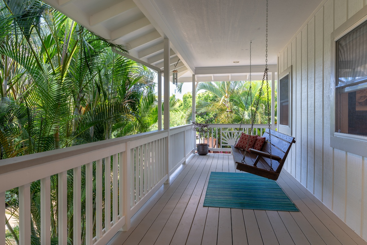 Swing on covered front lanai