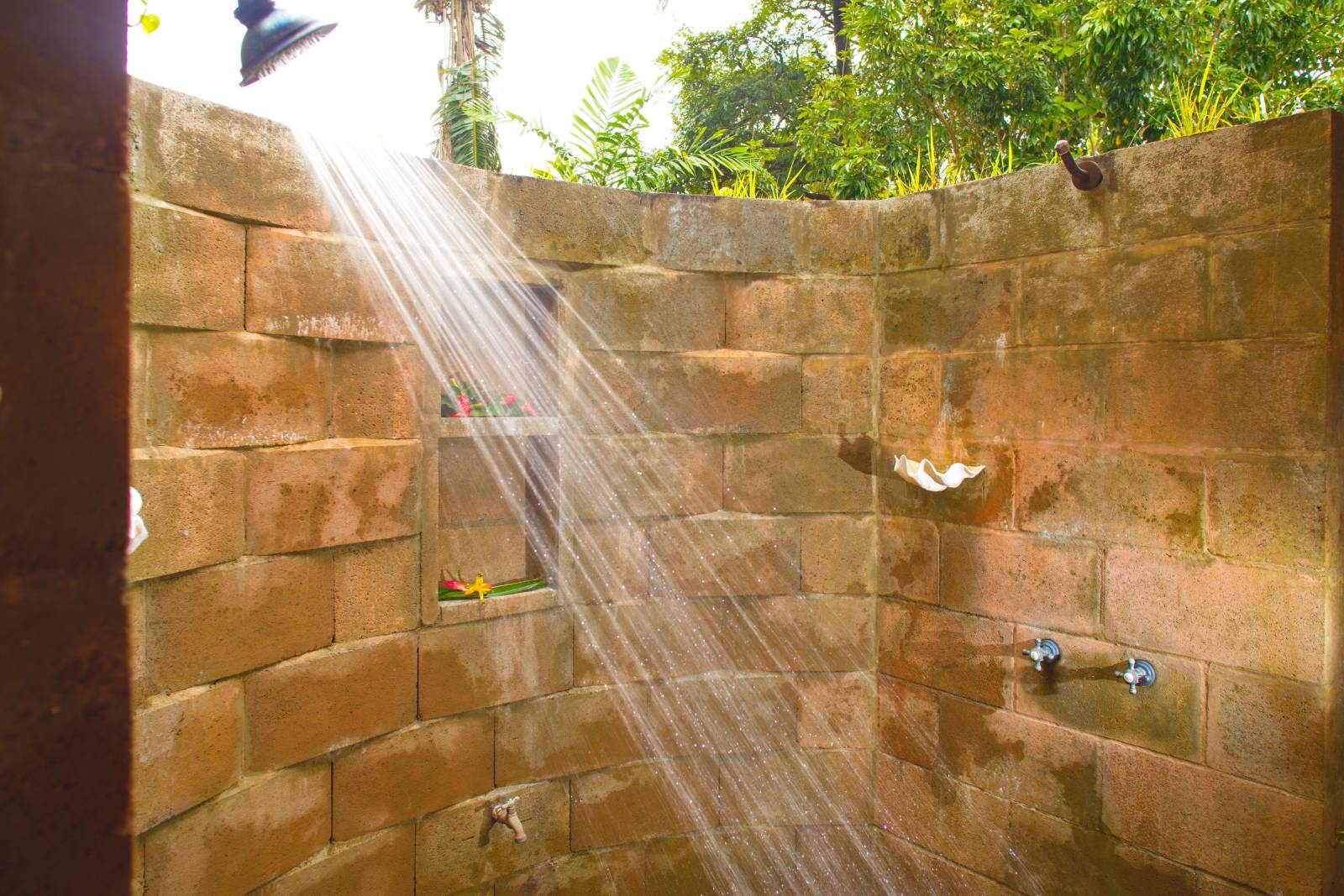 Outdoor shower on ROyal Drive